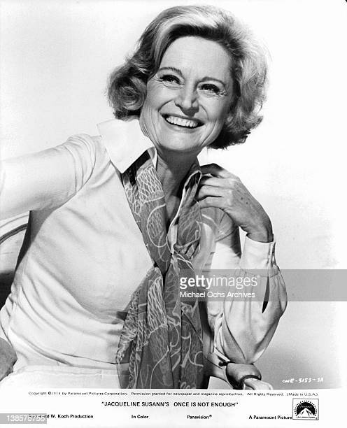 Alexis Smith in a publicity portrait from the film 'Jacqueline Susann's Once Is Not Enough' 1974