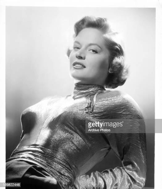 Alexis Smith in publicity portrait for the film 'Split Second' 1953