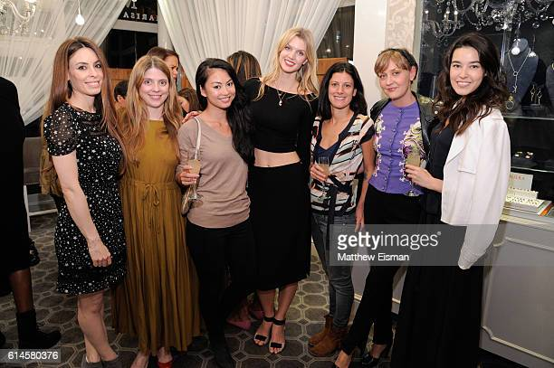 Alexis Spadaro Allie Whiteman Rechelle Balanzat Jayne Moore Doria Paci Nell Love and Stephanie Peterson attend the Thorn of an English Rose Launch...
