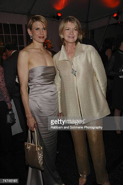 Alexis Stewart and Martha Stewart at the Cooper Hewitt Museum in New York City New York