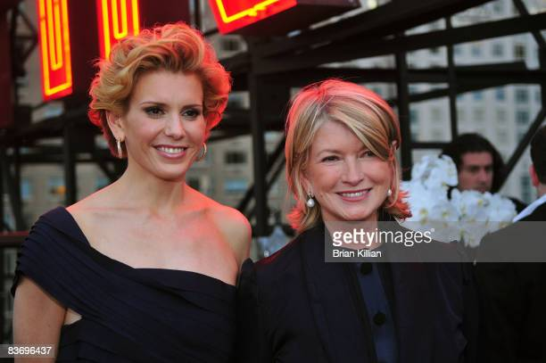 Alexis Stewart and Martha Stewart attend the launch party for Whatever Martha at the Empire Hotel Roof Deck on September 10 2008 in New York City