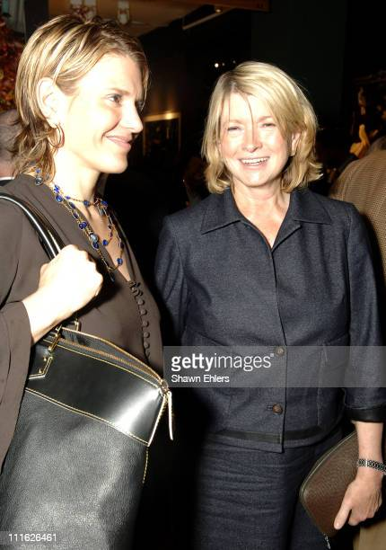 Alexis Stewart and Martha Stewart during Memorial SloanKettering Cancer Center's 18th Preview Party for The Haughton International Fine Art and...