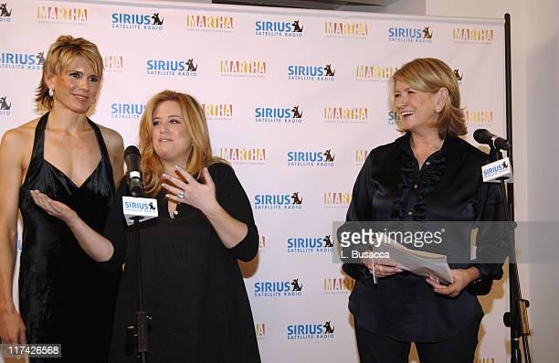 Alexis Stewart Jennifer KoppelmanHutt and Martha Stewart