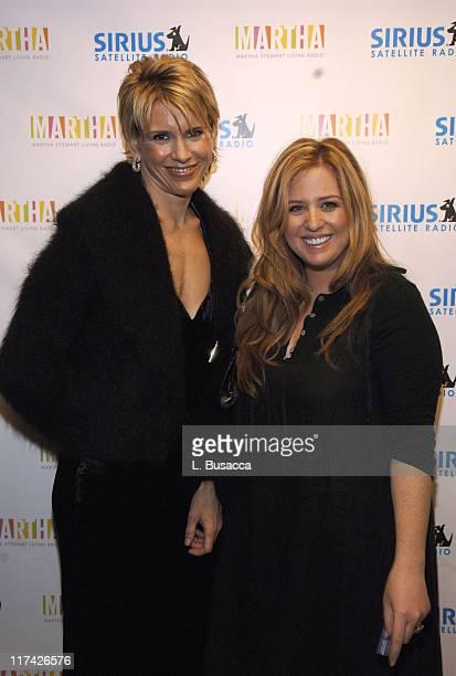 Alexis Stewart Jennifer KoppelmanHutt during Sirius Satellite Radio Introduces Hosts of Martha Stewart Channel November 16 2005 at Sirius Satellite...