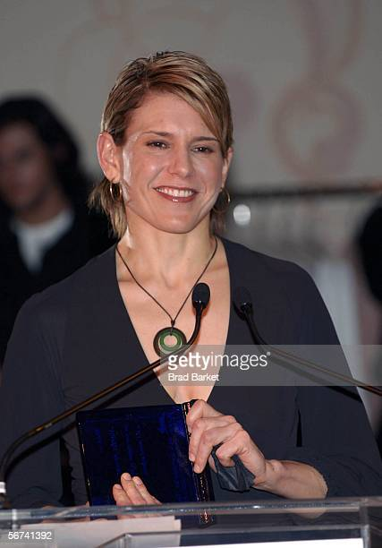 Alexis Stewart speaks at the PETA Fashion Week Bash at Stella McCartney on February 03 2006 in New York City