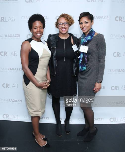 Alexis Stodghill Jennifer Corcino and Jericka Duncan attend Cesare Ragazzi USA Launch Event at Hotel on Rivington on May 22 2017 in New York City