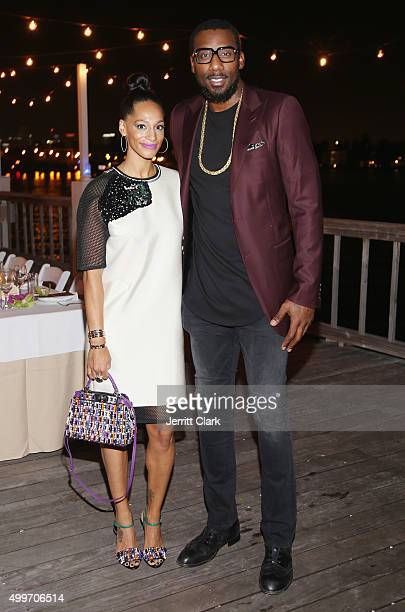 Alexis Stoudemire and Amar'e Stoudemire attend the Bloomberg Pursuits Dinner at The Standard Hotel Spa on December 2 2015 in Miami Beach Florida