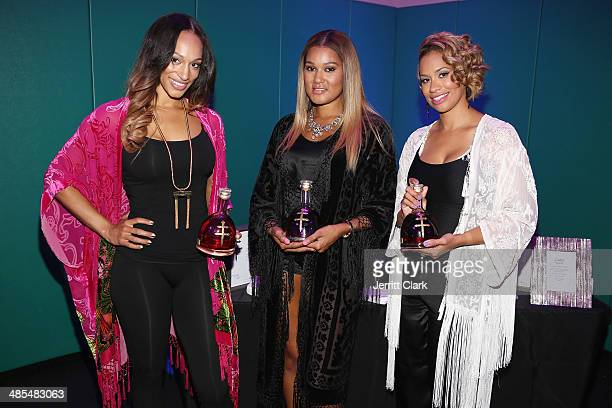 Alexis Stoudemire Elaina Watley and Amber Sabathia host Ladies Night In Benefiting Not For Sale on April 17 2014 in Alpine New Jersey