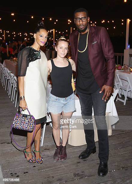 Alexis Stoudemire Jen Stark and Amar'e Stoudemire attend the Bloomberg Pursuits Dinner at The Standard Hotel Spa on December 2 2015 in Miami Beach...