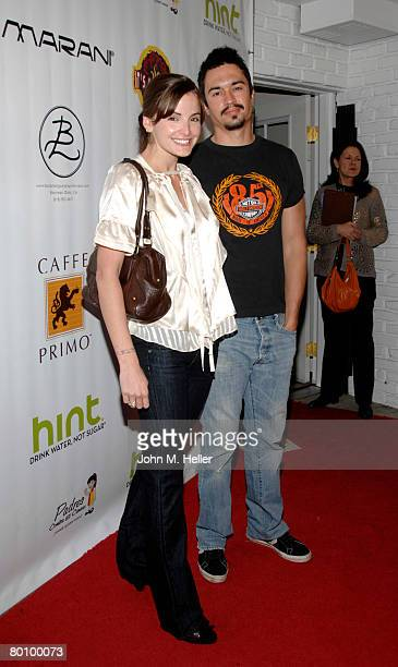 Alexis Thorpe and Cory Pierson arrive at the 'Body Language Sportswear' Launch Party at the Body Language Sportswear Botique on March 3 2008 in...