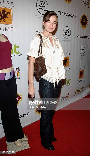 Alexis Thorpe arrives at the 'Body Language Sportswear' Launch Party at the Body Language Sportswear Botique on March 3 2008 in Sherman Oaks...
