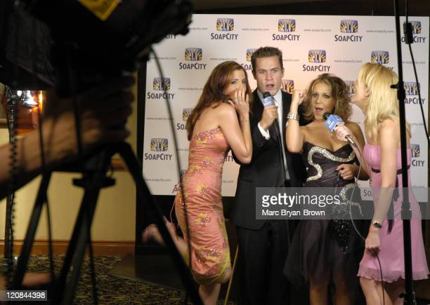 Alexis Thorpe Kyle Brandt and Farah Fath during 31st Annual Daytime Emmy Awards PreTelecast Reception at The Sheraton in New York City New York...