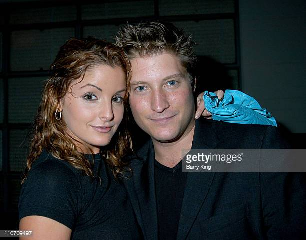 Alexis Thorpe Sean Kanan during An Evening With The Stars Benefit For The Desi Geestman Foundation at The Ivar in Hollywood California United States