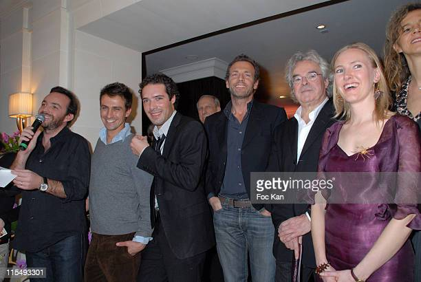 Alexis Tregarot Andy Gillet Nicolas Bedos Stephane Freiss Daniel Vigne Karine Pinoteau and Guests attend the Prix St Valentin 2008 Love Movie and...