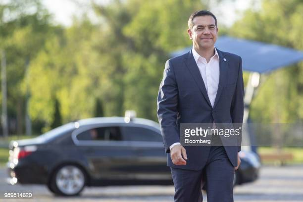 Alexis Tsipras Greece's prime minister arrives for an informal dinner at Sofia Tech Park in Sofia Bulgaria on Tuesday May 15 2018 The EU's...