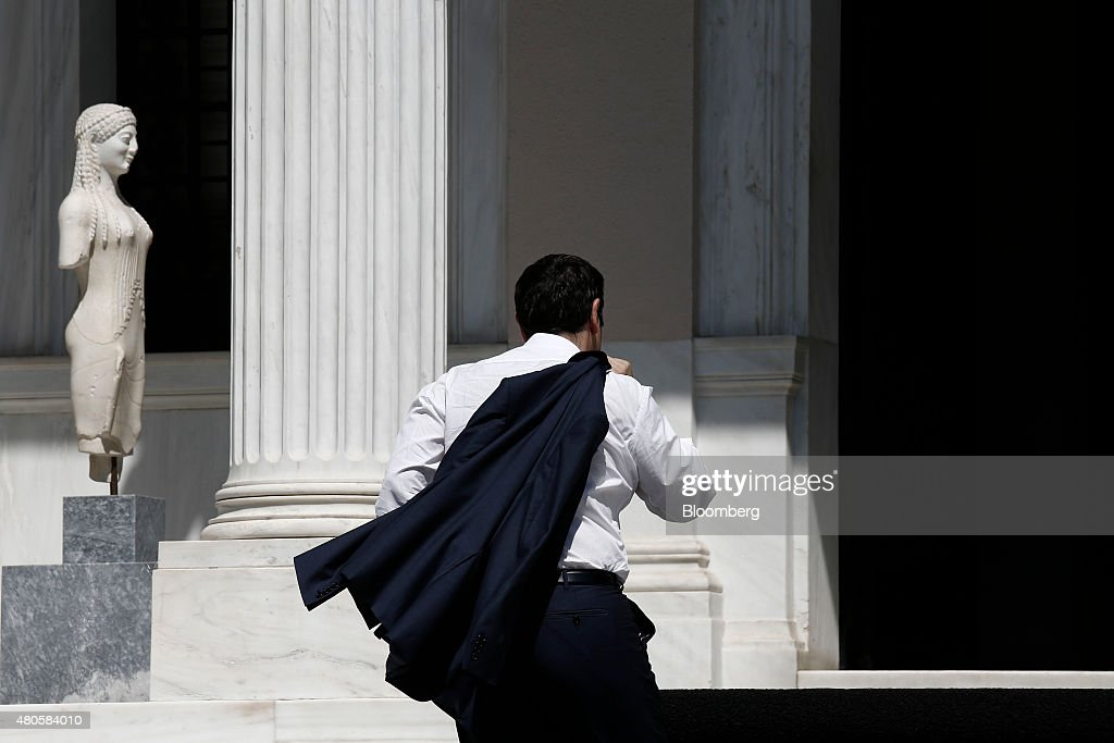 Reaction As Greece Capitulates To Creditors Demands : News Photo