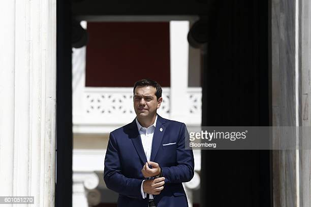 Alexis Tsipras Greece's prime minister looks on ahead of the first Mediterranean European Union countries' summit in Athens Greece on Friday Sept 9...
