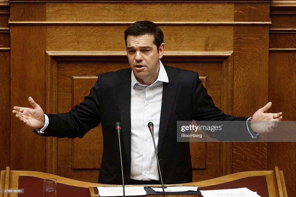 Greek Crisis As Referendum Called : News Photo