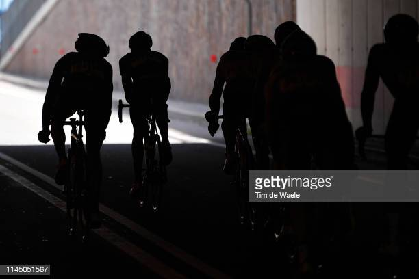 Alexis Vuillermoz of France and Team AG2R La Mondiale / Andrey Zeits of Kazahkstan and Astana Pro Team / Elie Gesbert of France and Team Arkéa Samsic...