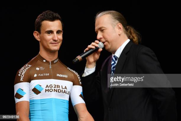 Alexis Vuillermoz of France and Team AG2R La Mondiale / during the 105th Tour de France 2018 Team Presentation on July 5 2018 in Place Napoleon La...