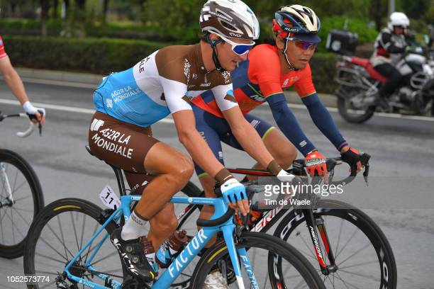 Alexis Vuillermoz of France and Team Ag2R La Mondiale / Yukiya Arashiro of Japan and Team BahrainMerida / during the 2nd Tour Of Guangxi 2018 Stage 5...