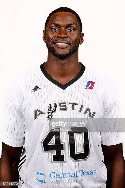 Alexis Wangmene of the Austin Spurs poses for a head shot during NBA DLeague media day at the Cedar Park Recreation Center on November 9 2016 in...