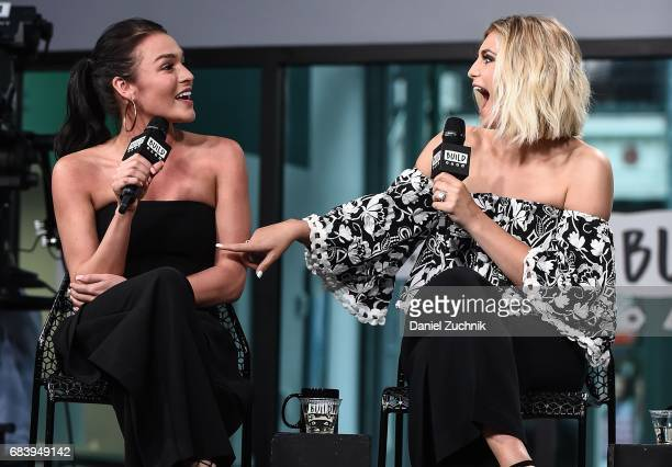 Alexis Waters and Olivia Caridi attend the Build Series to discuss the 'Bachelorette' at Build Studio on May 16 2017 in New York City