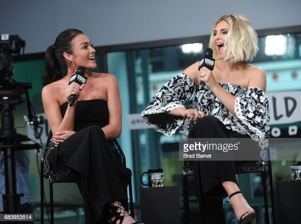Alexis Waters and Olivia Caridi discuss the 'Bachelorette' with the 'Here To Make Friends' Podcast at Build Studio on May 16 2017 in New York City