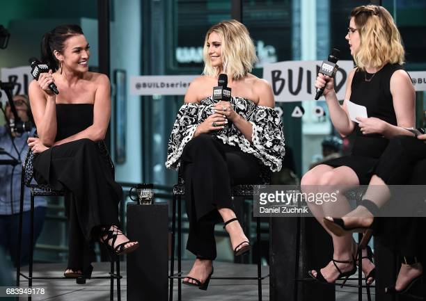 Alexis Waters Olivia Caridi and Claire Fallon attend the Build Series to discuss the 'Bachelorette' at Build Studio on May 16 2017 in New York City