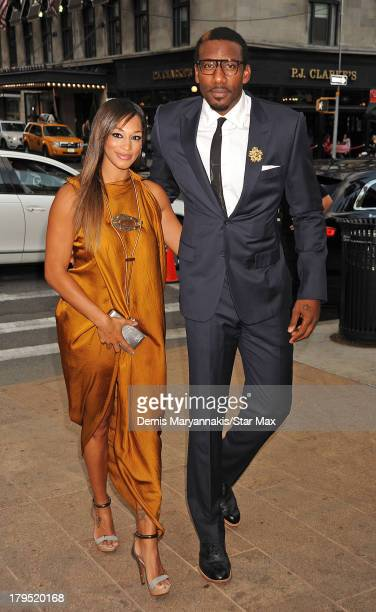 Alexis Welch and Amar'e Stoudemire are seen on September 4 2013 in New York City