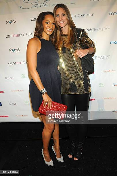 Alexis Welch and Stephanie Winston Wolkoff attend the Strut The Fashionable Mom Show during MercedesBenz Fashion Week at The Stage at Lincoln Center...