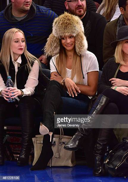 Alexis Welch attends the Houston Rockets vs New York Knicks game at Madison Square Garden on January 8 2015 in New York City