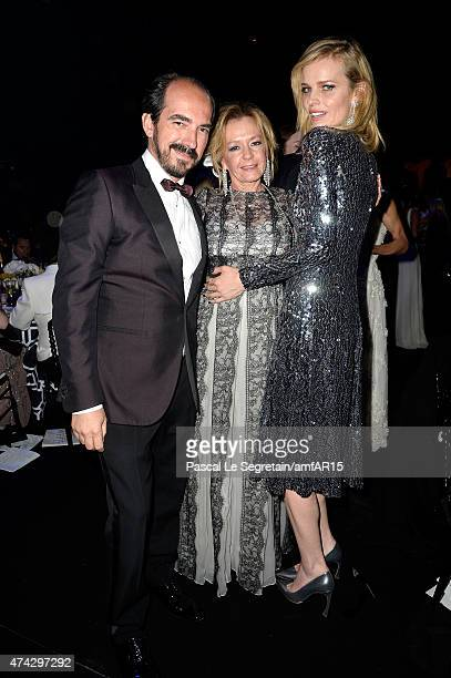 Alexis Weller Chopard copresident Caroline Scheufele and model Eva Herzigova attend amfAR's 22nd Cinema Against AIDS Gala Presented By Bold Films And...