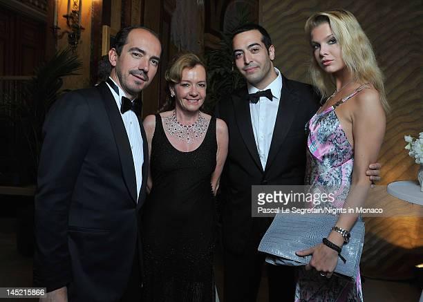Alexis Weller CoPresident of Chopard Caroline GruosiScheufele Mohammed Al Turki and Alessandra Pozzi attend the 'Nights In Monaco' Gala Fundraiser...
