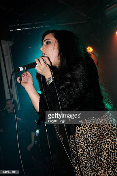 Alexis Winston performs on stage at XOYO on April 4 2012 in London United Kingdom
