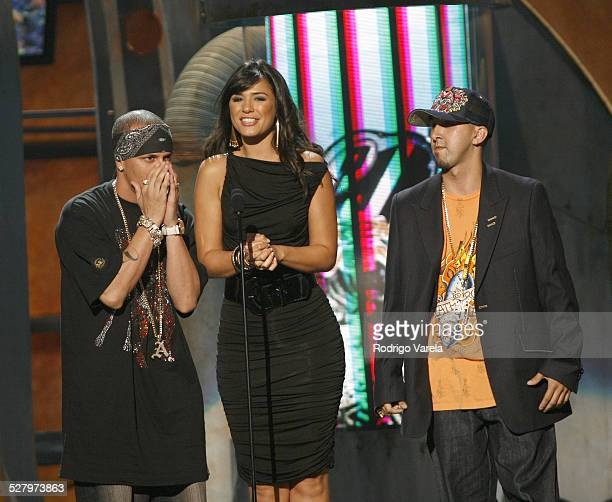 Alexis y Fido and Ana Carolina da Fonseca during 2006 Premios Juventud Awards Show at Bank United Center in Miami Florida United States