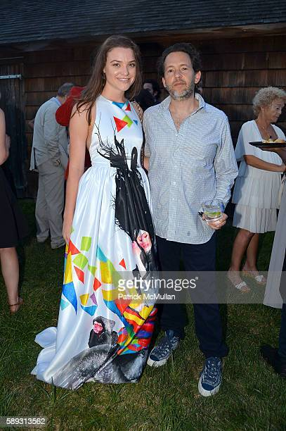 Alexis Zumwalt and Adam Sender attend the Guild Hall Summer Gala at Guild Hall on August 12 2016 in East Hampton New York