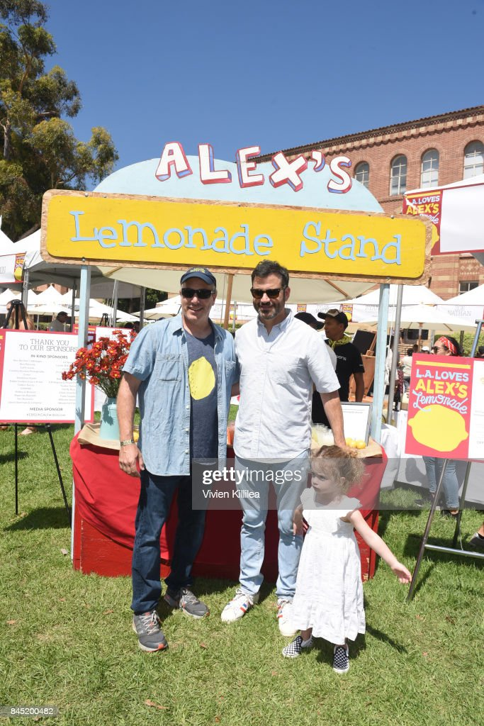 Alex's Lemonade Stand Foundation Co-Executive Director Jay Scott, Jimmy Kimmel and Jane KImmel attend the 8th Annual L.A. Loves Alex's Lemonade at UCLA Royce Quad on September 9, 2017 in Los Angeles, California.