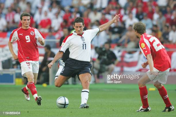 Alexsander FREI and Patrick MULLER of Switzerland and Frank LAMPARD of England during the European Championship match between England and Switzerland...