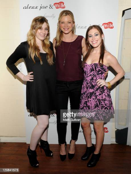 Alexx LevinMonkarsh actress Amy Smart and Bari MilkenBernstein attend the Alexx Jae And Milk FW10 Collection launch party at Milk Boutique on April...