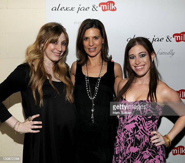 Alexx LevinMonkarsh actress Perrey Reeves and Bari MilkenBernstein attend the Alexx Jae And Milk FW10 Collection launch party at Milk Boutique on...
