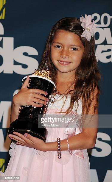 Alexys Nycole Sanchez poses in the press room during the 2011 MTV Movie Awards at Universal Studios' Gibson Amphitheatre on June 5 2011 in Universal...