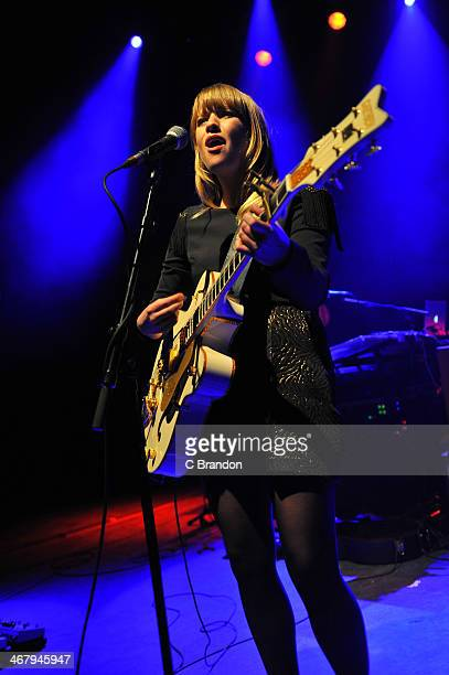 Alexz Johnson performs on stage at Shepherds Bush Empire on February 8 2014 in London United Kingdom