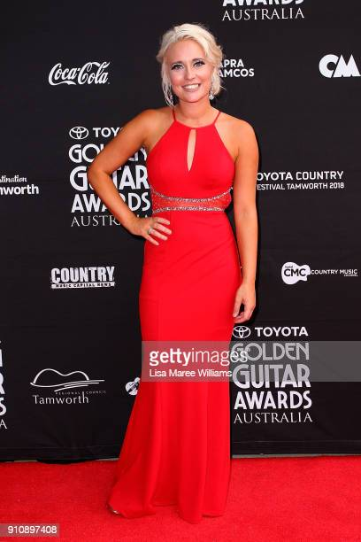 Aleyce Simmonds arrives at the 2018 Toyota Golden Guitar Awards on January 27 2018 in Tamworth Australia