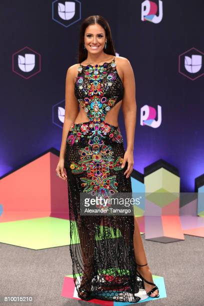 Aleyda Ortiz attends the Univision's 'Premios Juventud' 2017 Celebrates The Hottest Musical Artists And Young Latinos ChangeMakers at the Watsco...