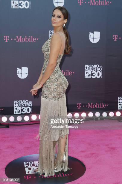 Aleyda Ortiz attends Univision's 30th Edition Of 'Premio Lo Nuestro A La Musica Latina' at American Airlines Arena on February 22 2018 in Miami...
