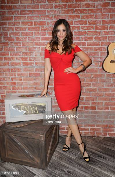 Aleyda Ortiz is seen during Facebook Live Nuestra Belleza Latina reunion at Univision's Newsport Studios on on May 10 2018 in Miami Florida