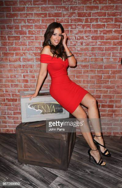 Aleyda Ortiz is seen during Facebook Live Nuestra Belleza Latina reunion at Univision's Newsport Studios on May 10 2018 in Miami Florida