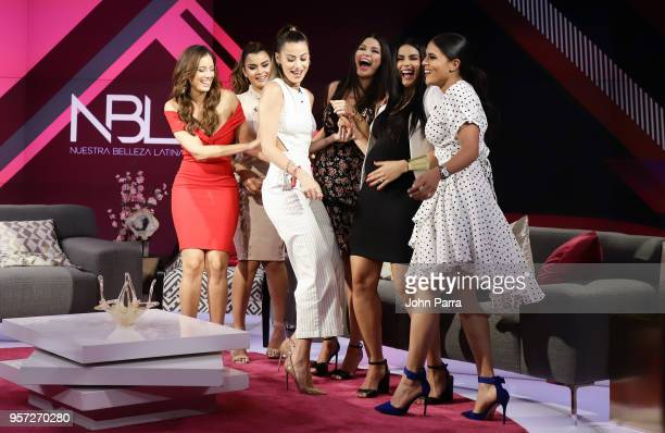 Aleyda Ortiz Nastassja Bolivar Clarissa Molina Ana Patricia Gamez and Vanessa De Roide are seen during Facebook Live Nuestra Belleza Latina reunion...