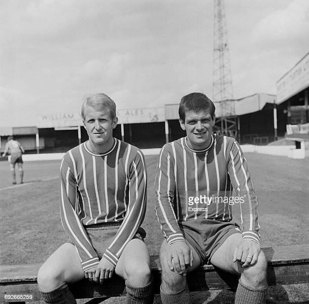 Alf Jones and Dick Scott of Lincoln City FC UK 8th August 1966